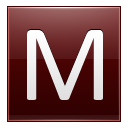 Letter M Red Emoticon