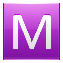 Letter M Pink Emoticon