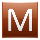 Letter M Orange Emoticon