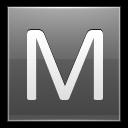 Letter M Grey Emoticon