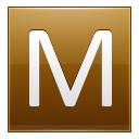 Letter M Gold Emoticon