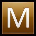 Letter M Gold Emoticon
