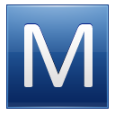 Letter M Blue Emoticon