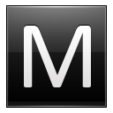 Letter M Black Emoticon
