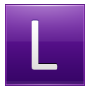 Letter L Violet Emoticon