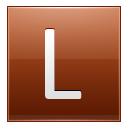 Letter L Orange Emoticon