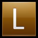Letter L Gold Emoticon