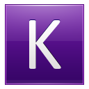 Letter K Violet Emoticon