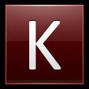 Letter K Red Emoticon