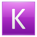 Letter K Pink Emoticon