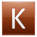 Letter K Orange Emoticon