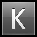 Letter K Grey Emoticon
