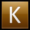 Letter K Gold Emoticon