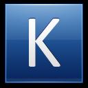 Letter K Blue Emoticon
