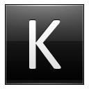 Letter K Black Emoticon