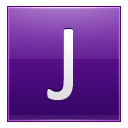 Letter J Violet Emoticon