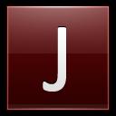 Letter J Red Emoticon
