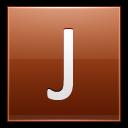 Letter J Orange Emoticon