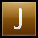Letter J Gold Emoticon