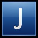 Letter J Blue Emoticon