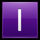 Letter I Violet Emoticon