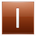 Letter I Orange Emoticon