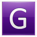 Letter G Violet Emoticon