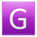 Letter G Pink Emoticon