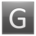 Letter G Grey Emoticon
