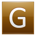 Letter G Gold Emoticon