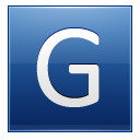 Letter G Blue Emoticon