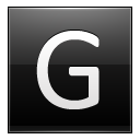 Letter G Black Emoticon