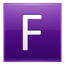 Letter F Violet Emoticon