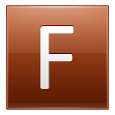Letter F Orange Emoticon
