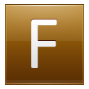 Letter F Gold Emoticon