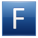 Letter F Blue Emoticon