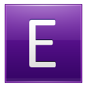Letter E Violet Emoticon