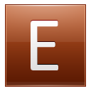 Letter E Orange Emoticon
