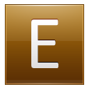 Letter E Gold Emoticon