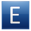 Letter E Blue Emoticon
