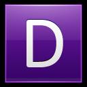 Letter D Violet Emoticon