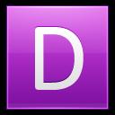 Letter D Pink Emoticon