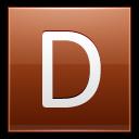 Letter D Orange Emoticon