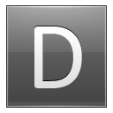 Letter D Grey Emoticon