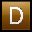 Letter D Gold Emoticon
