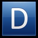 Letter D Blue Emoticon