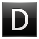 Letter D Black Emoticon