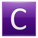 Letter C Violet Emoticon