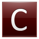 Letter C Red Emoticon