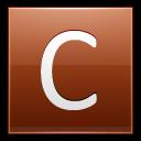 Letter C Orange Emoticon